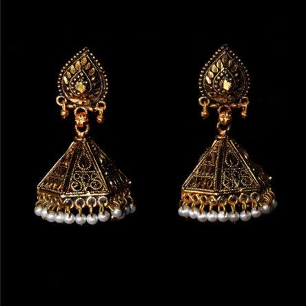 Серьги «Колокол-старое золото»